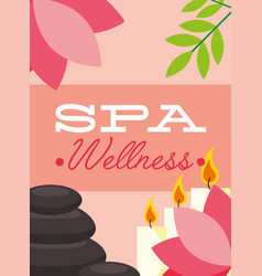 Woman spa wellness vector