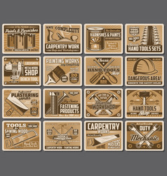 Work diy and construction tools instruments vector