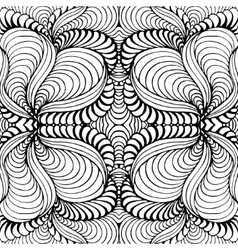Abstract seamless background with doodle style vector image vector image