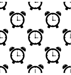 alarm clock seamless pattern on white background vector image vector image