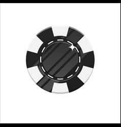 black casino chip cartoon style isolated vector image