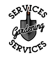 Color vintage gardening emblem vector