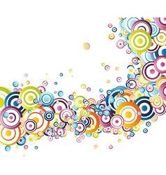 Fresh rainbow wave vector image vector image