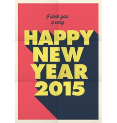 Happy new year 2015 poster vector