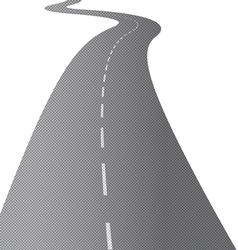 Long Swirling Road vector image