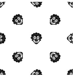 clown pattern seamless black vector image vector image