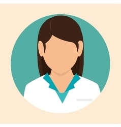 female doctor design icon vector image