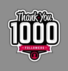 Follower thank-you badge vector image vector image