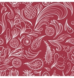Hot Tropical Outline Pattern vector image vector image