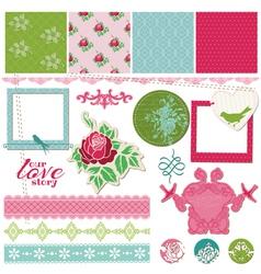 Scrapbook Design Elements - Vintage Flower Card vector image vector image