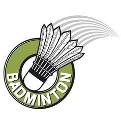 badminton label vector image