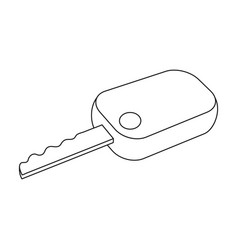 car keycar single icon in outline style vector image vector image