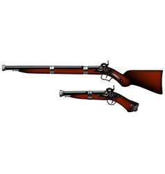 old rifles and pistols vector image