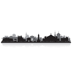 Omsk Russia city skyline silhouette vector image vector image