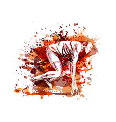 color of a runner at start vector image vector image