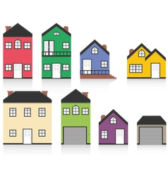 Colourful home collection vector image