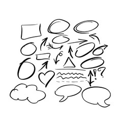 doodle frames and arrow collection vector image