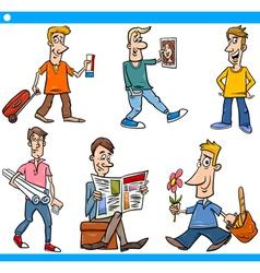 men characters set cartoon vector image vector image