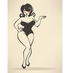 plus size pinup vector image vector image