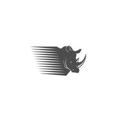 rhino fast logo vector image vector image