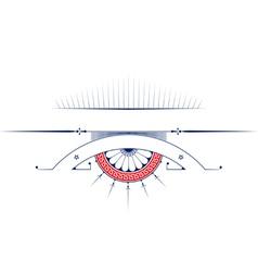 vintage ribbon emblem background design elements vector image vector image