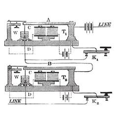 Acoustic transmitter vintage vector