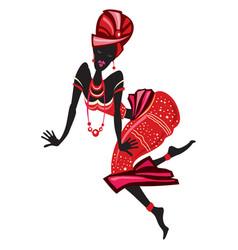 afro women dancing vector image