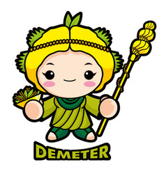 Agricultural goddess demeter character olympus vector