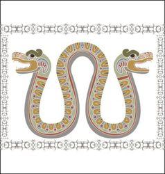 Aztec snake vector