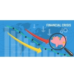 Banner financial crisis vector