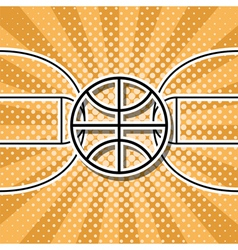 basketball symbol vector image