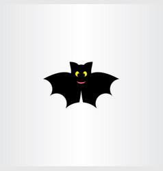 Bat icon symbol black logo design sign vector