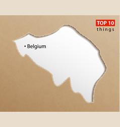 belgium map belgian maps craft paper texture vector image