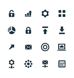 big data database icons set vector image