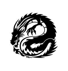 Black dragon sign vector