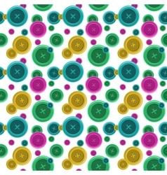 Buttons sewing seamless pattern button shirt vector