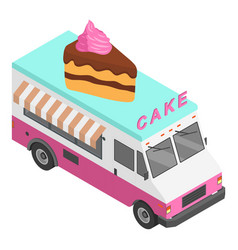 cake truck icon isometric style vector image