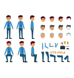 cartoon of businessman with many head and vector image