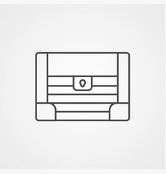 chest icon sign symbol vector image