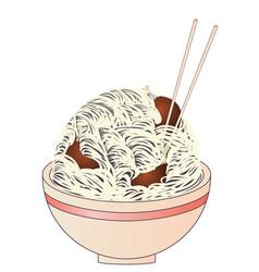 chicken noodle soup vector image