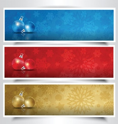 christmas bauble headers vector image