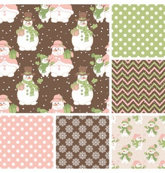 Christmas Seamless Pattern Set vector