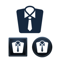 clothing icon set isolated vector image