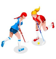 Field Hockey 2016 Sports 3D Isometric vector image