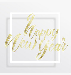 golden lettering happy new year vector image