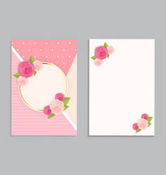 Greeting card blank template vector