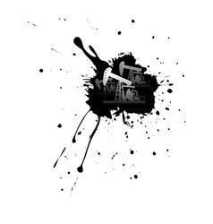 Grunge Oil Pump8 vector