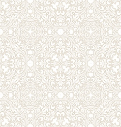 Hand drawn seamless pattern of stylized flora vector image