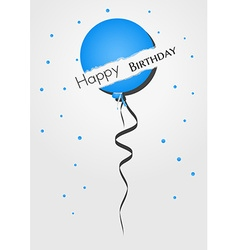 Happy birthday balloon from torn paper vector