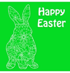 Happy Easter green vector
